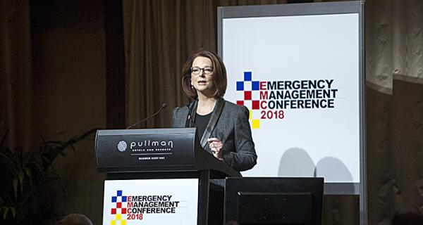 Former Prime Minister Julia Gillard spoke about the study on the mental health of EM workers.