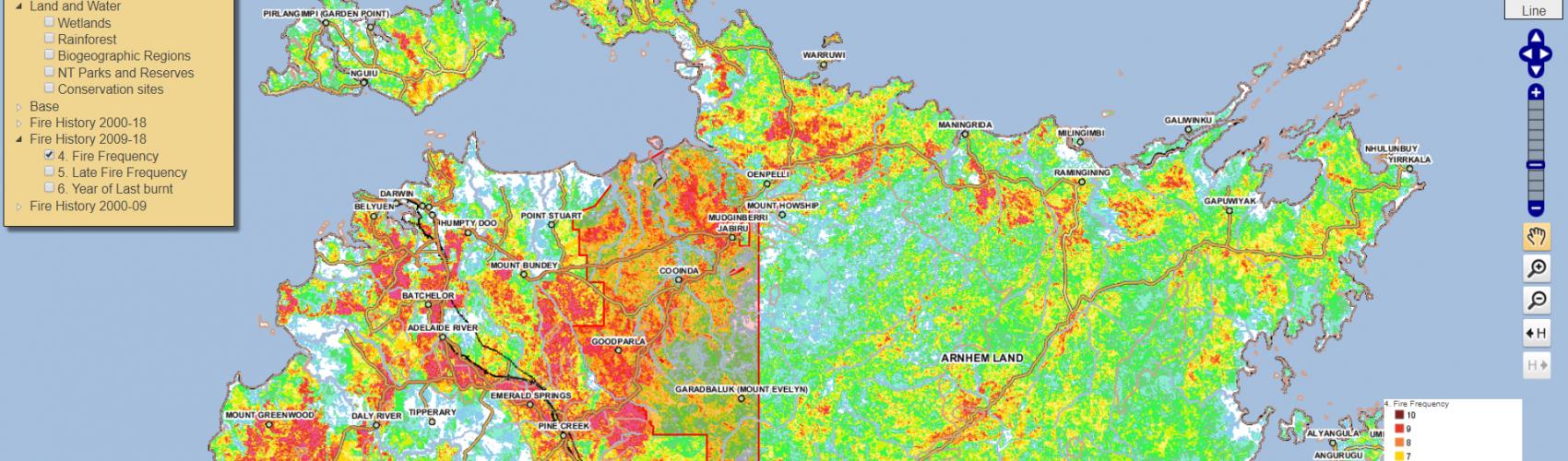 SMERF provides web-based fire maps across Australia's northern savannas and rangelands.