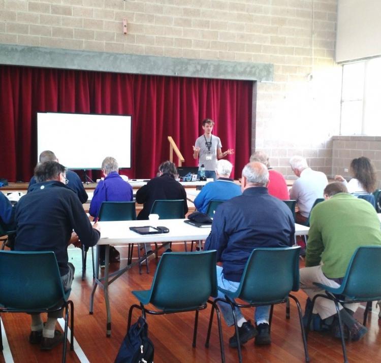 Research workshop in Tasmania