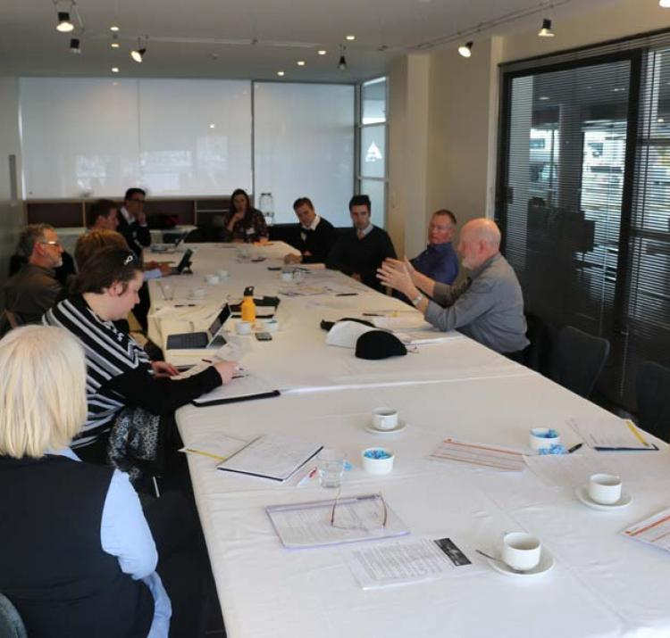 End-users and researchers engaged in technical discussions during breakout sessions at the 2016 Research Advisory Forum in Hobart.