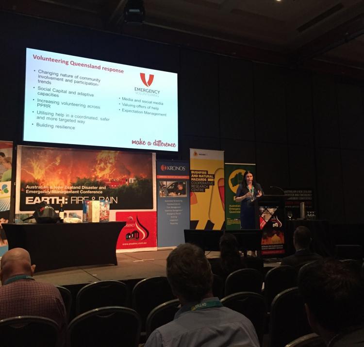 End-user Julie Molloy (Volunteering Queensland) at the 2015 ANZDEMC.