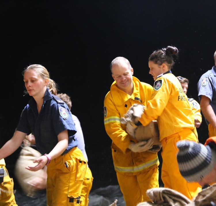 Collaroy sand bag army. Photo: NSW RFS.