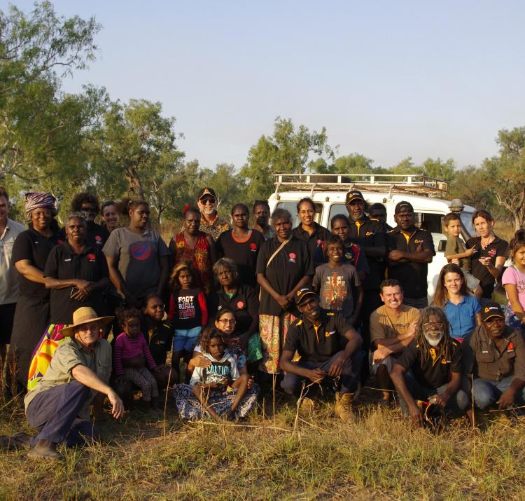 Workshop participants at Ngukurr.