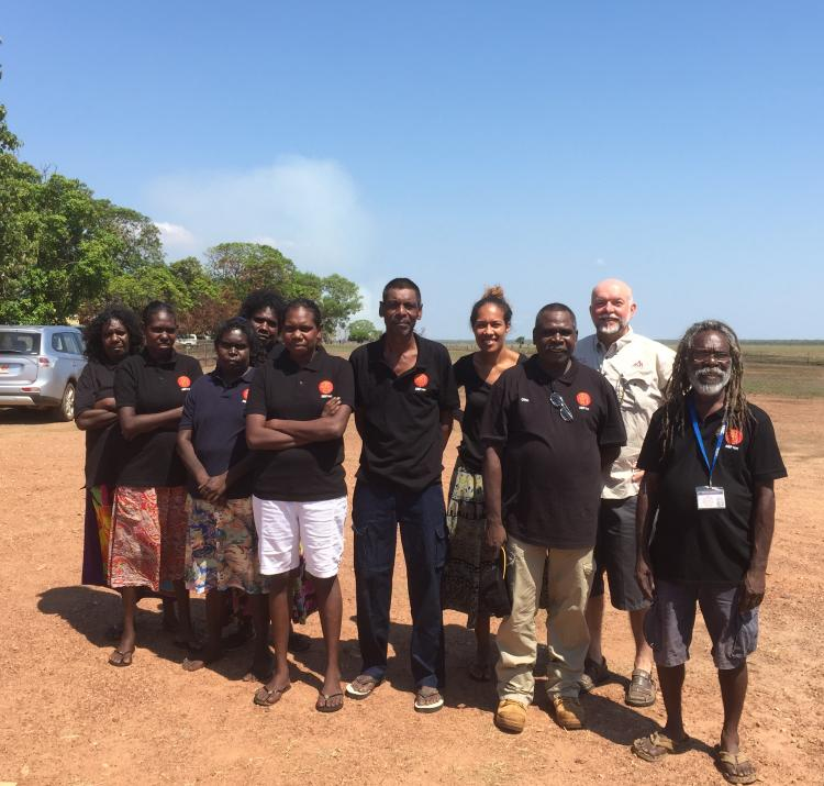 ARPNet researchers with Steve Sutton in Gunbalanya