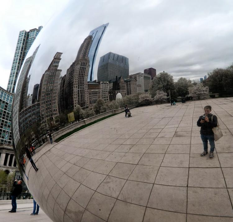 Billy at Cloud Gate in Millennium Park, Chicago.