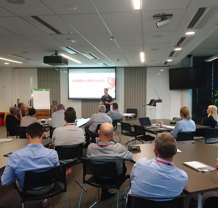 A/Prof Ben Brooks presenting at the workshop. Photo: Steve Curnin