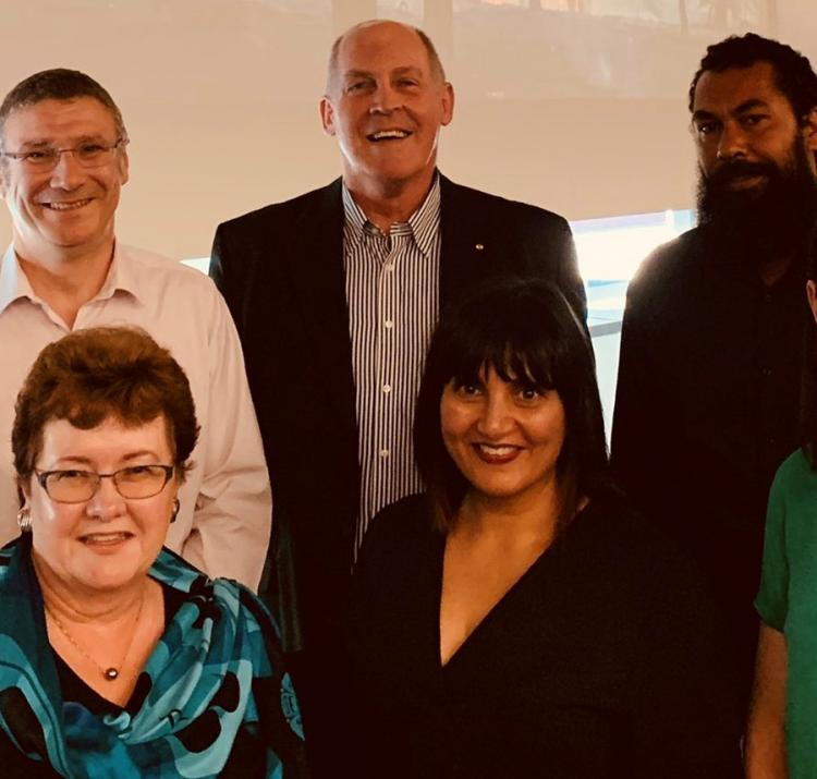 Panel at QUT forum: (back row) Dr Timothy Graham, Dr Richard Thornton, Major-General Richard Wilson, Leeton Lee, Prof Vivienne Tippett (front row) A/Prof Wendy Scaife, A/Prof Amisha Mehta, A/Prof Dominique Greer. Credit: IFE QUT