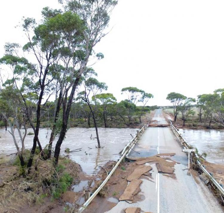 Floods can cause severe damage to bridges, roads and other infrastructure. Credit: Dana Fairhead.