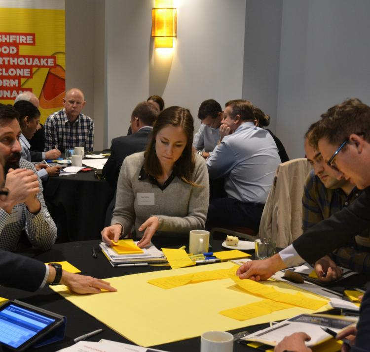 A breakout group at a Bushfire and Natural Hazards CRC workshop