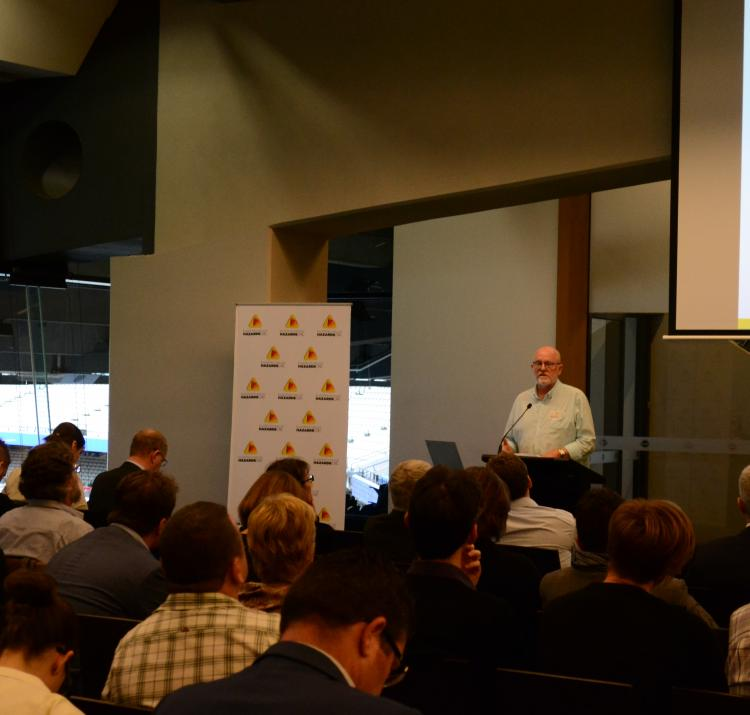 CRC student Bill Calcutt presenting at the workforce and volunteering RAF in Melbourne.