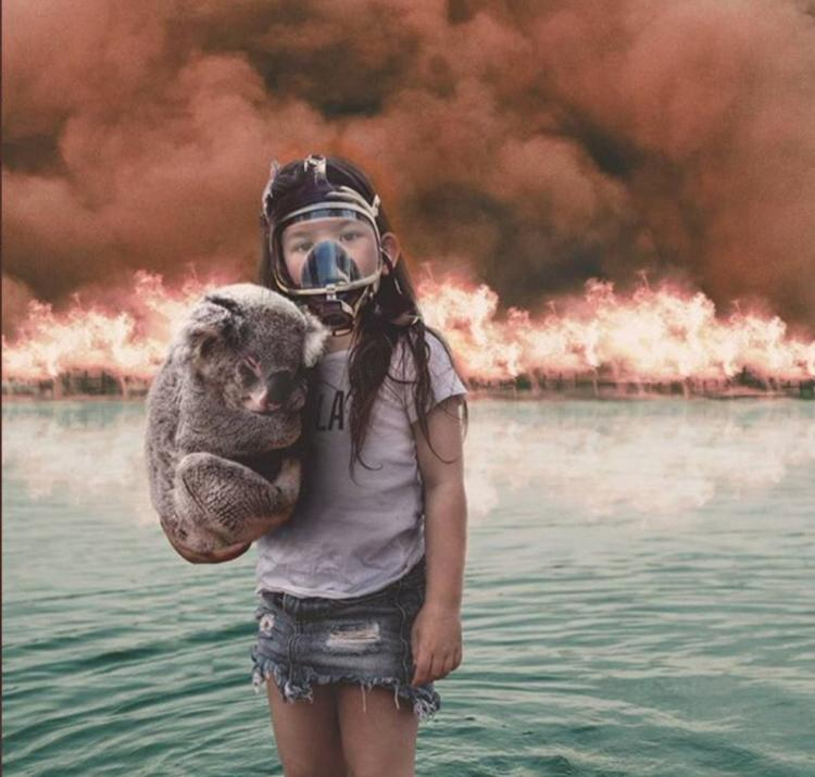 This image was shared thousands of times on social media during Australia's Black Summer bushfires. The AFP's fact check confirmed it is not authentic and is actually a combination of several separate photos.