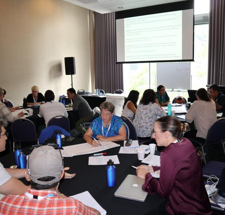 Workshop participants at the OCEANIA Ecosystem Services forum, Brisbane