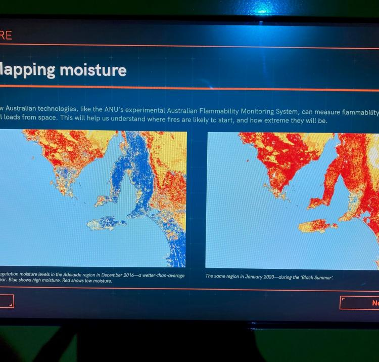 The Australian Flammability Monitoring System is being featured in two new exhibitions, including at the Australian Space Discovery Centre, pictured above. Photo: Questacon.
