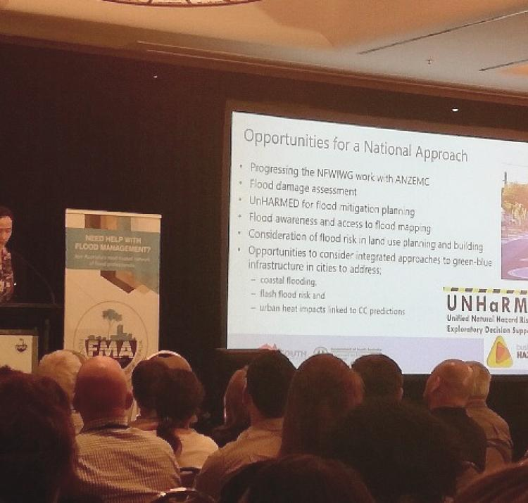 Gabrielle Eckert from South Australia's Department of Environment and Water talks about the UNHaRMED software as a way of making Australia flood safe.
