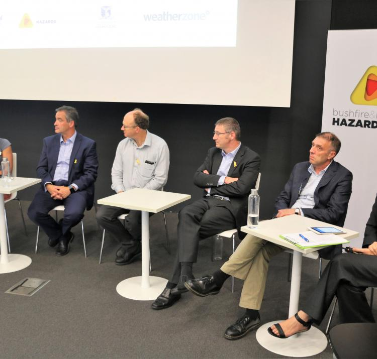 The AMOS panel discuss. From right to left: MC Tanya Hay, Prof Michael Reeder, Dr Mika Peace, Dr Paul Fox-Hughes, Alen Slijepcevic, Dr Richard Thornton
