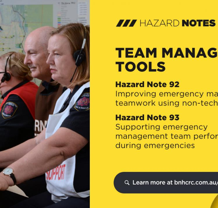 Researchers have developed two new tools that help support and enhance individual and team capabilities during emergencies. Photo: South Australia Country Fire Service.
