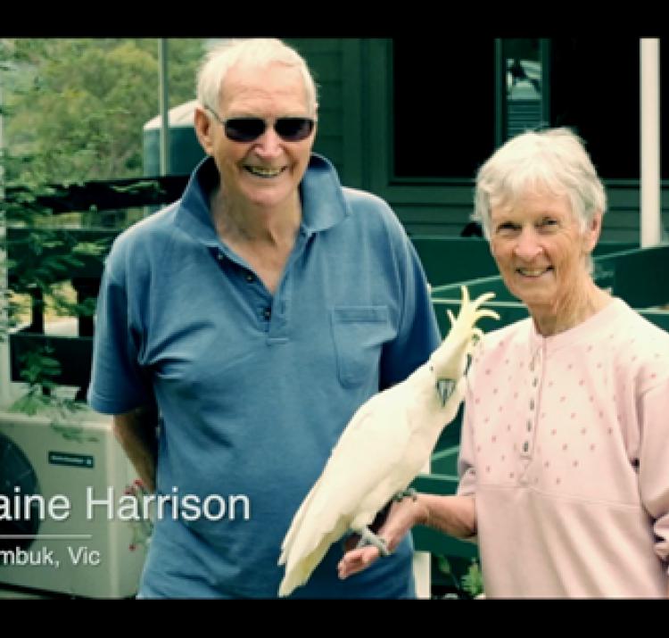 Mike and Elaine Harrison discuss bushfire risk