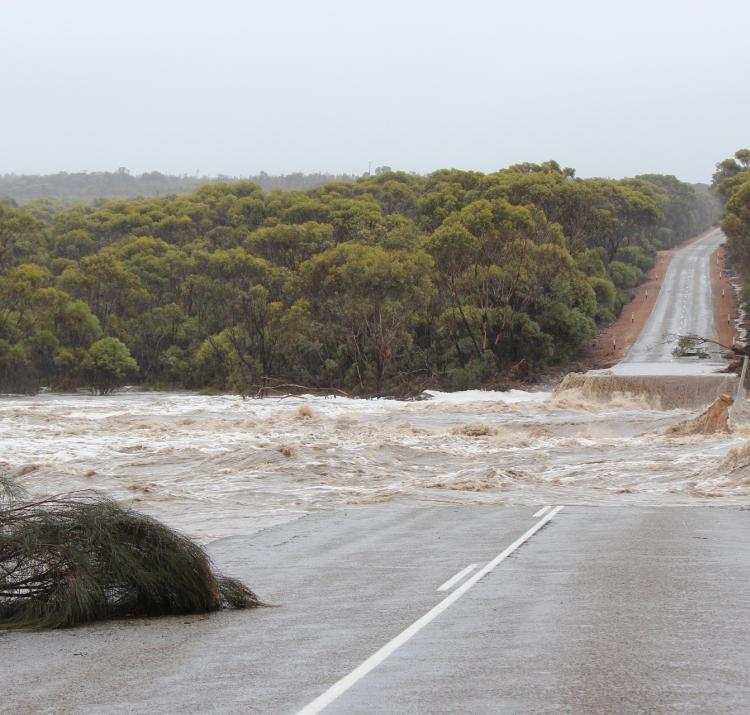 Research shows that the most common way people are killed during a flood is when they attempt to cross a bridge or flooded road. Photo: Dana Fairhead