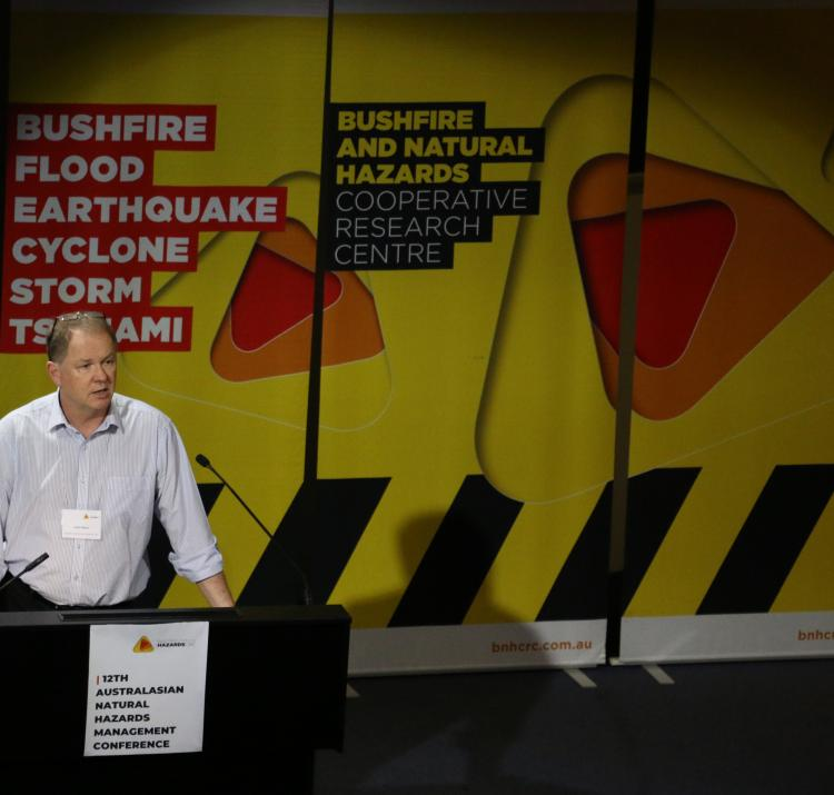 CRC Research Director John Bates presenting at the Australasian Natural Hazards Management Conference 2019