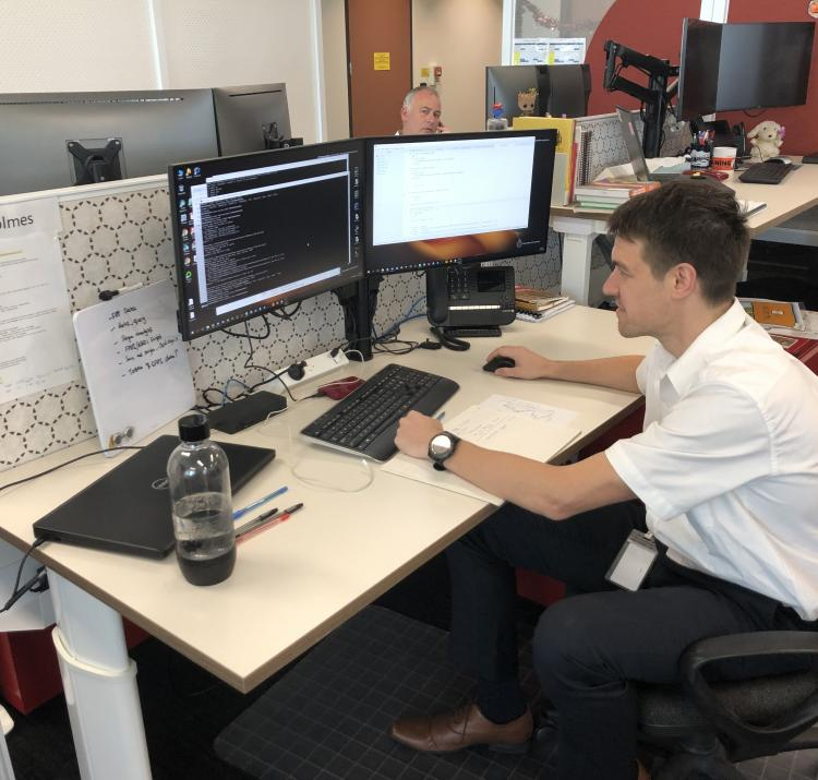 Dr Alex Holmes settles into NSW Rural Fire Service's new headquarters.