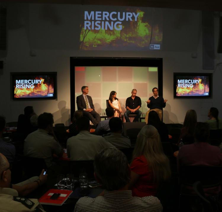Mercury Rising was streamed live online, as well as a studio audience