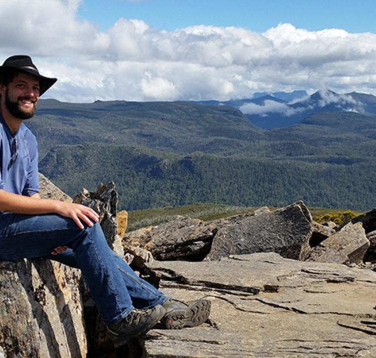 James Furlaud - postgrad field studies in the Tasmanian forests