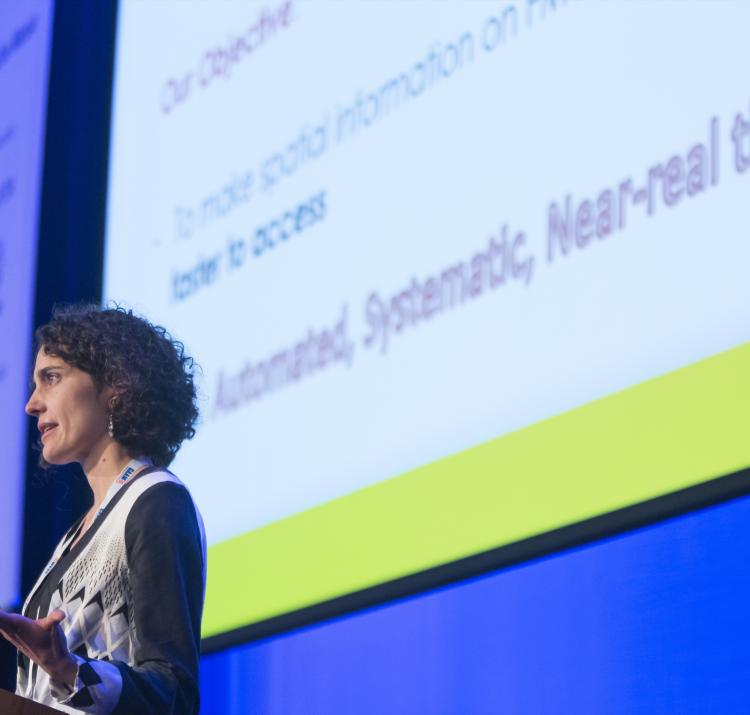Dr Marta Yebra at the 2017 Research Forum
