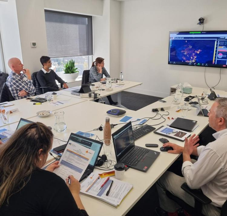 Researchers and representatives of the Australian energy sector met in May to collaborate on new research into the risks posed by catastrophic bushfires. Photo: BNHCRC.