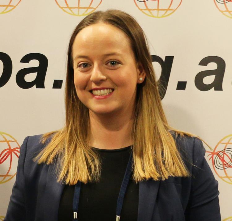 Dr Paula Dootson receives her EMPA 2019 award.