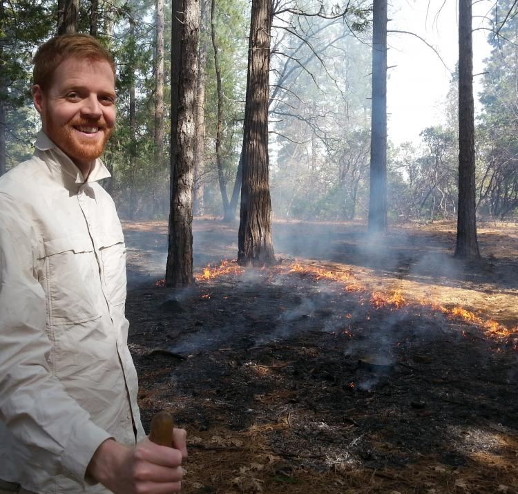 Daniel May conducting a prescribed burn near Chico, California. Photo: Don Hankins.