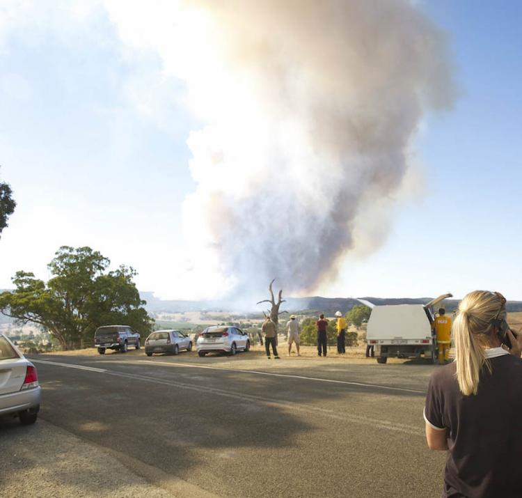 Sampson Flat fire. Photo by Angry Planet.
