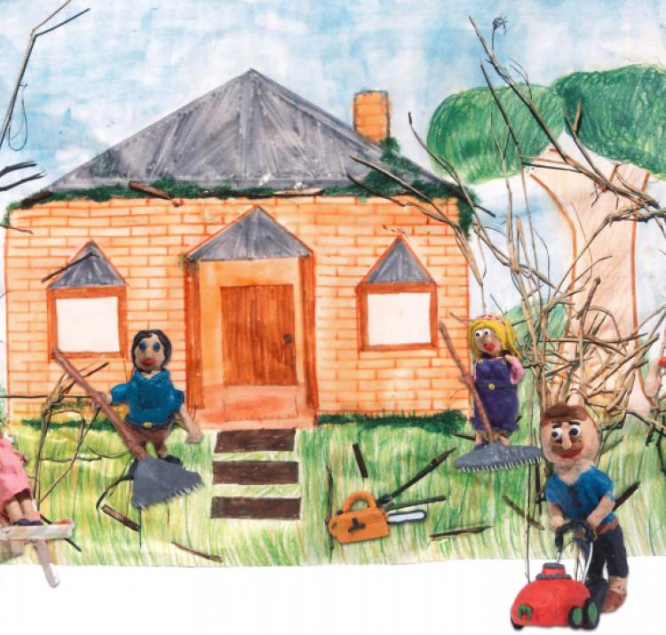 Life in the bush: Gem Gem's next adventure. Photo: Grade 5/6 students at Stathewen Primary School