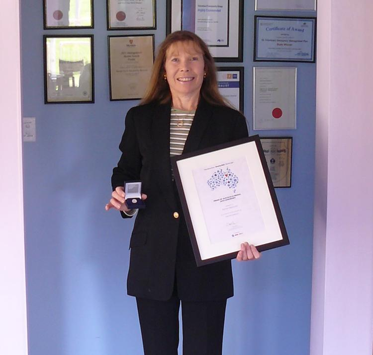 Rachel Westcott with her Pride of Australia achievements.
