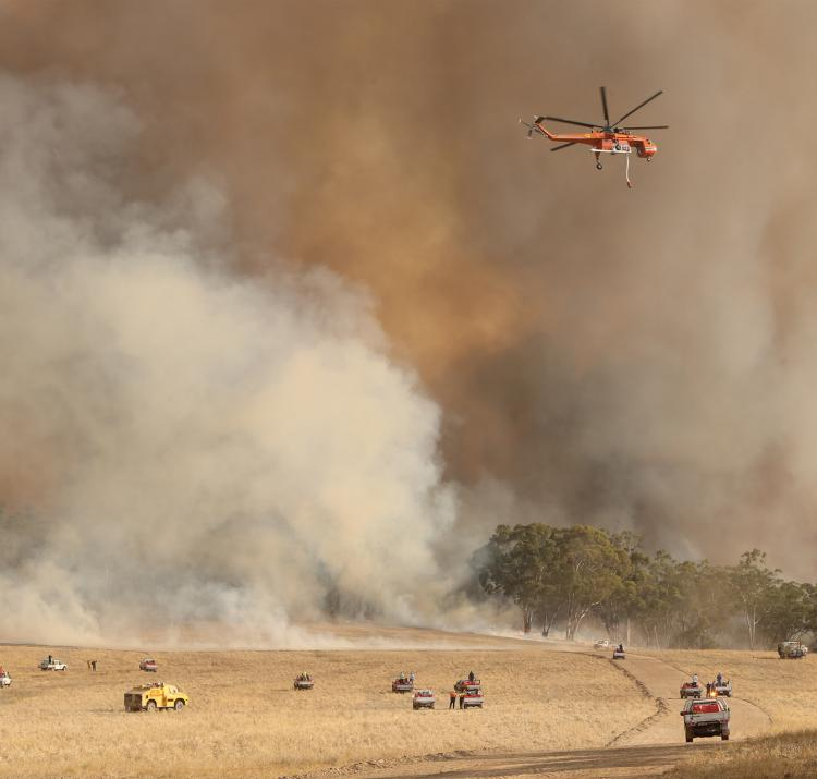 The Bangor fire in SA, 2014. Photo courtesy Tait Schmall/Newscorp