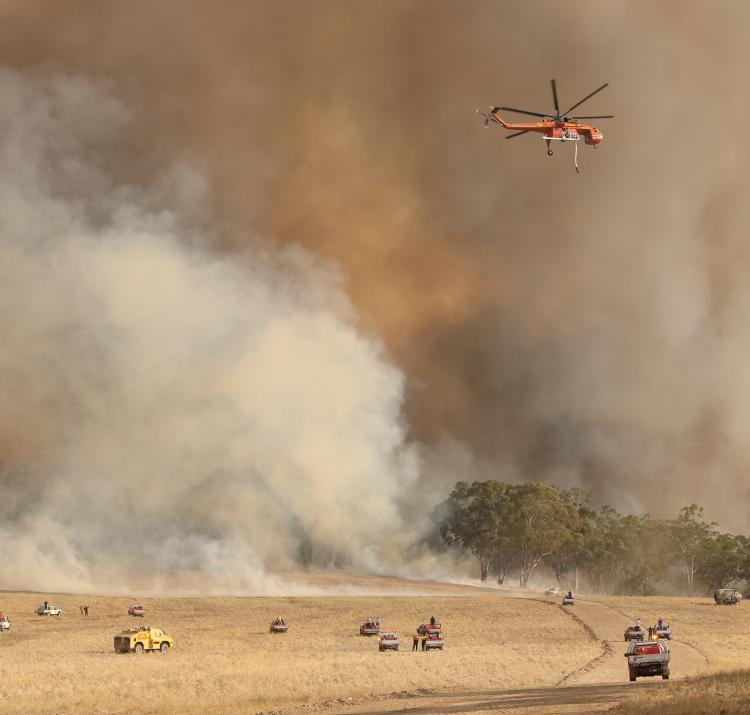 The Bangor fire in SA, 2014. Photo courtesy Tait Schmall/Newscorp