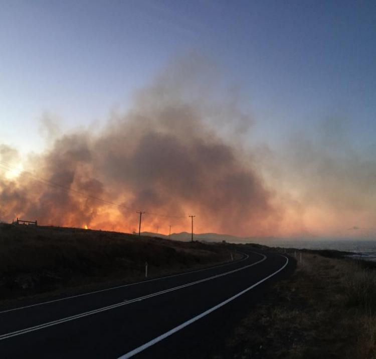 Hazard reduction burn, east coast Tasmania