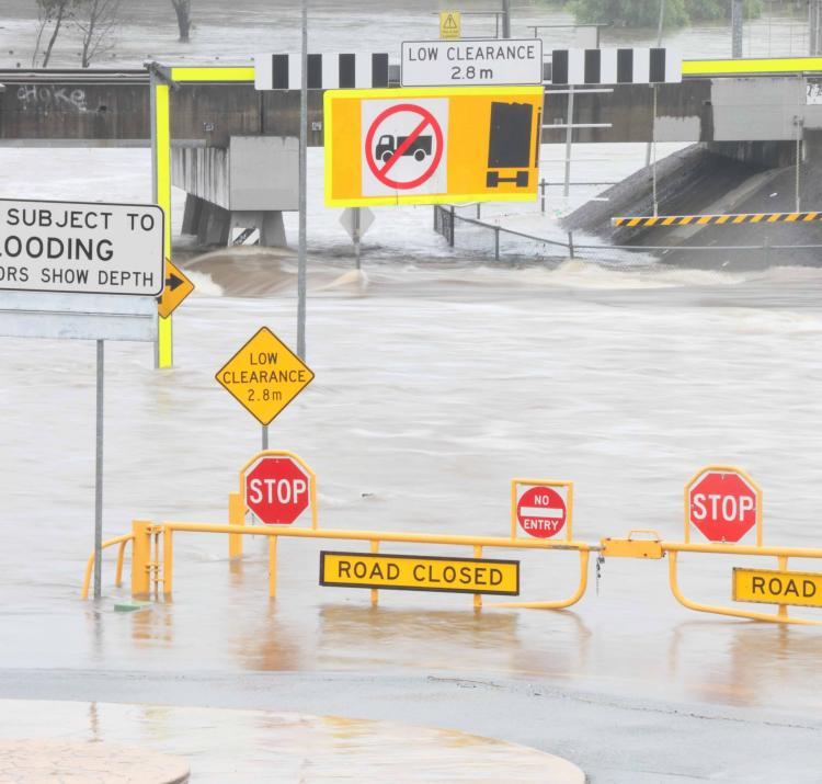 Flooding in Morayfield, Queensland, as a result of Tropical Cyclone Marcia in February 2015. Photo: Shutterstock.com