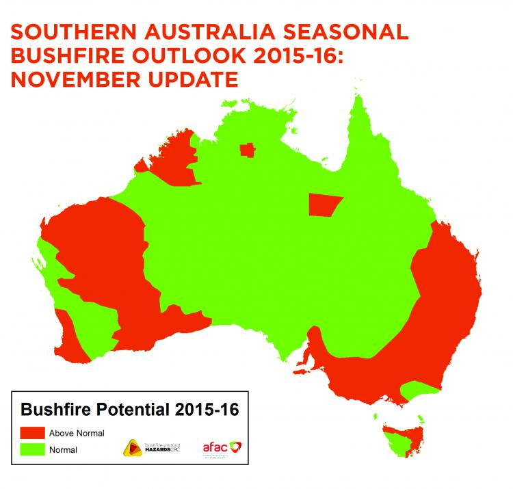 November update to the Southern Australia Seasonal Bushfire Outlook.