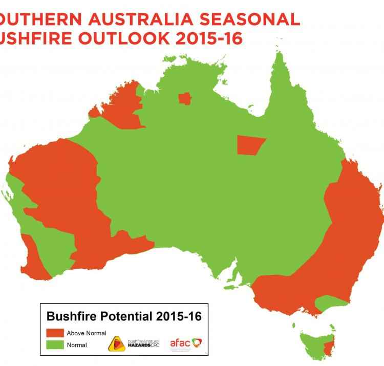 Bushfire outlook for southern Australia 2015-16