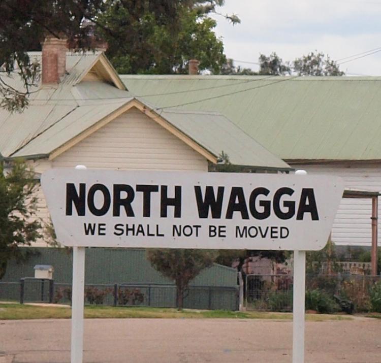 Sign in North Wagga, NSW. Photo: Caroline Wenger