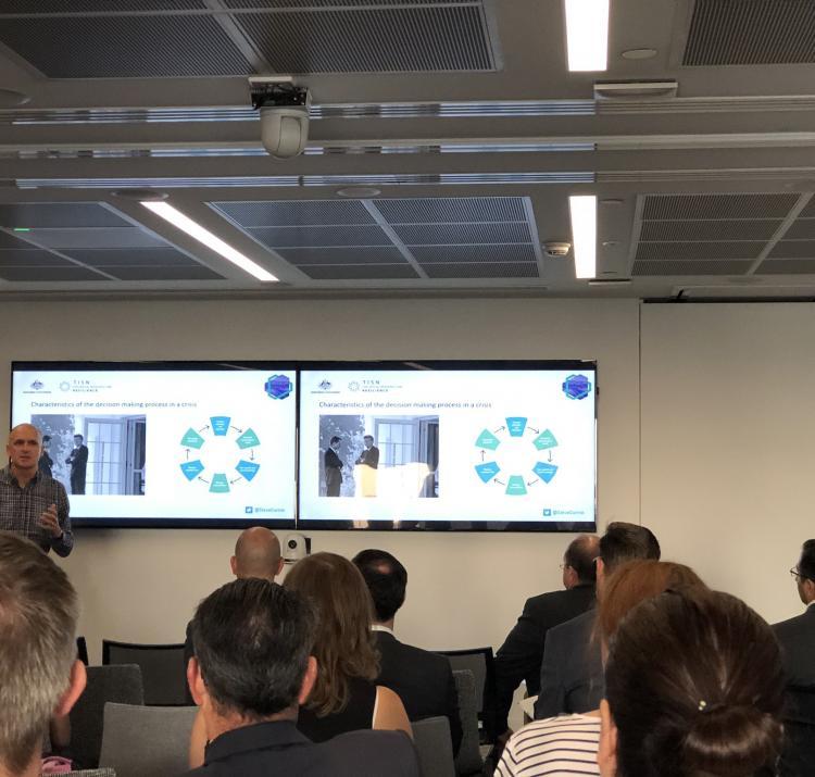 Dr Steve Curnin presenting at the workshop.