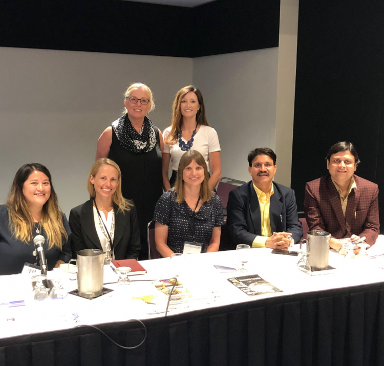 Dr Briony Towers (centre) at the Children, Youth and Disasters panel at the World Sociology Congress in Toronto.