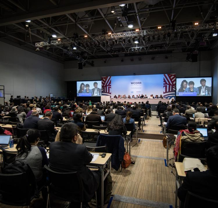 The UN World Conference on Disaster Risk Reduction in Sendai, Japan.