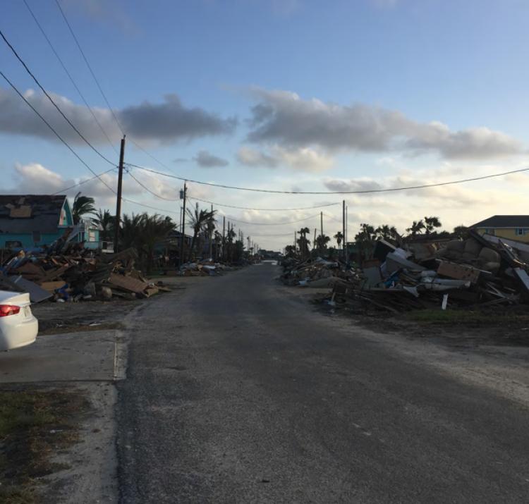 Hurricane Harvey damage. Photo: Daniel Smith