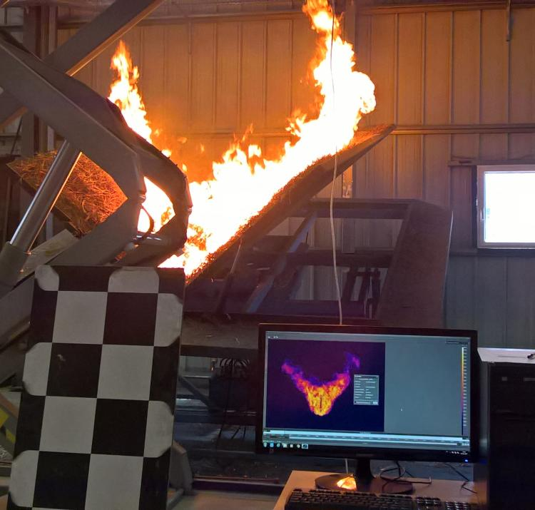 Fire behaviour research at CEIF