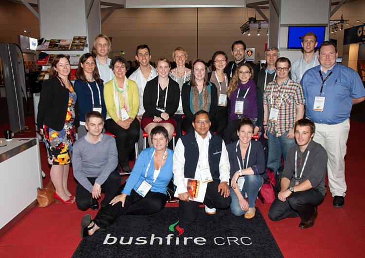 PhD students from the Bushfire CRC at our Melbourne conference 2013