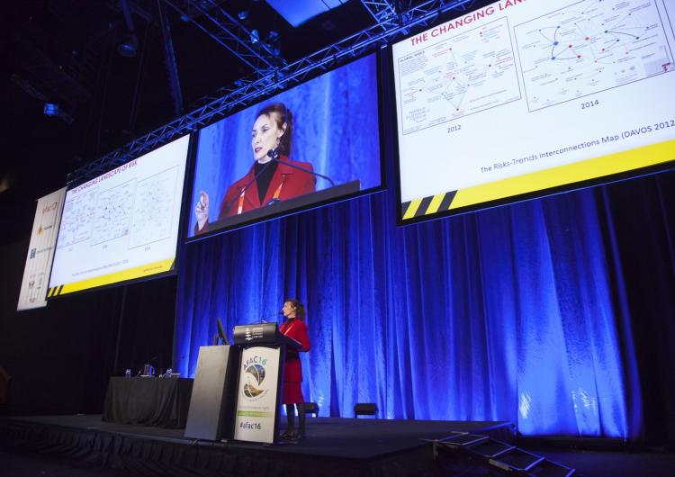 Celete Young at the AFAC16 conference.