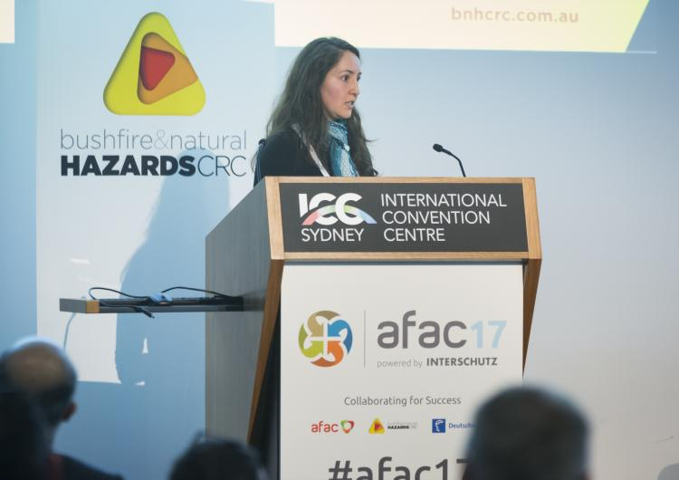 Dr Veronique Florec talks at AFAC17.