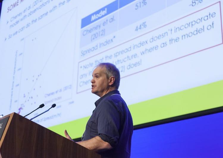Prof Jason Sharples presenting at AFAC17.