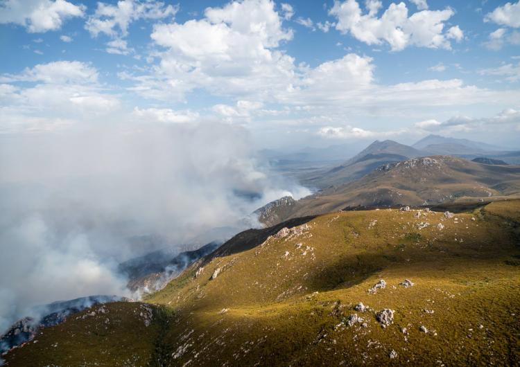 Janaury 2019 Tasmania bushfires. Photo: Tasmania Fire Service